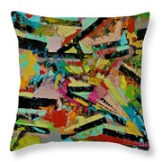 Cotton Crystal Throw Pillow