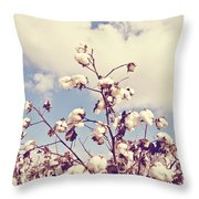 Cotton In The Sky With Filter Throw Pillow