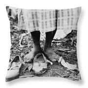 Cotton Picker, 1937 Throw Pillow