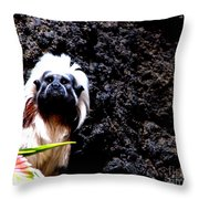Cotton Top Tamarin Throw Pillow