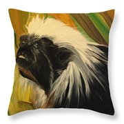 Cotton Top Tamarin Zack Half Of All Proceeds Go To Jungle Friends Primate Sanctuary Throw Pillow