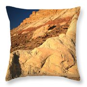Cottonwood Colored Badlands Throw Pillow