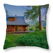 Cottonwood Cottage At Sunset Throw Pillow