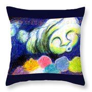Cloud Flowers Throw Pillow
