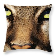 Cougar Eyes Throw Pillow