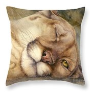 Cougar    I See You     Throw Pillow