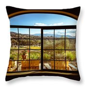 Cougar Winery View Throw Pillow
