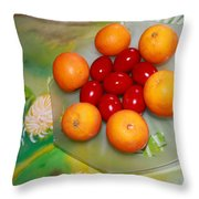 Coulourful Easter Throw Pillow