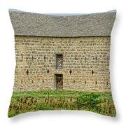 Council Grove Kansas Stone Barn Throw Pillow