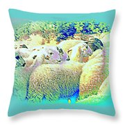 Counting The Sheep But Can't Sleep  Throw Pillow