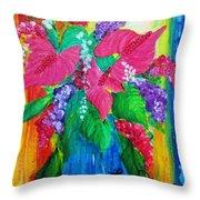 Countrified Exotic Throw Pillow