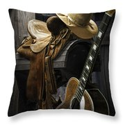 Country And Western Music Throw Pillow
