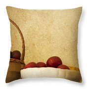 Country Apples Throw Pillow