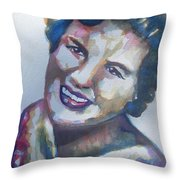 Country Artist Patsy Cline Throw Pillow