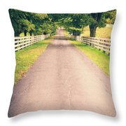 Country Back Roads Throw Pillow