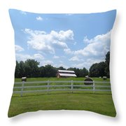 Country Barn And Hay Throw Pillow