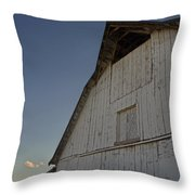 Country Barn And Mt Ashland Throw Pillow
