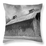 Country Barn Country Moon Country Throw Pillow by Betsy Knapp