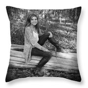 Country Beauty Throw Pillow
