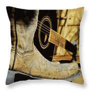 Country Blues Throw Pillow