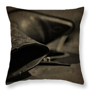 Country Boots And Guitar Throw Pillow