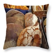 Country Bread And Muffins Throw Pillow