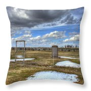 Country Cemetary Throw Pillow