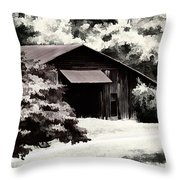 Country Charm In Dramatci Bw Throw Pillow