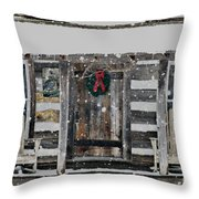 Country Christmas Throw Pillow