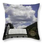 Country Church And Sign Throw Pillow