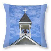 Country Church Bell Throw Pillow