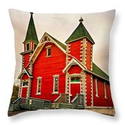 Country Church Paint Throw Pillow