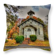 Country Church Throw Pillow