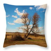 Country Clouds Throw Pillow