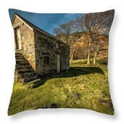 Country Cottage Throw Pillow by Adrian Evans