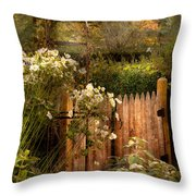 Country - Country Autumn Garden  Throw Pillow by Mike Savad