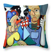 Country Cubism Throw Pillow