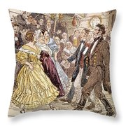 Country Dance, 1820s Throw Pillow