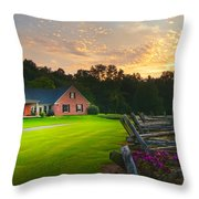 Country Estate Sunset Throw Pillow
