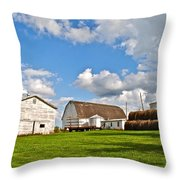 Country Farm Throw Pillow by Frozen in Time Fine Art Photography