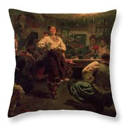 Country Festival Throw Pillow by Ilya Efimovich Repin