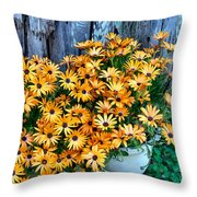Country Floral Throw Pillow