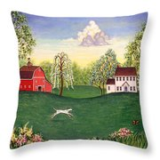 Country Frolic One Throw Pillow
