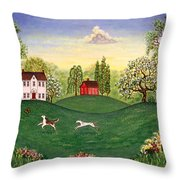 Country Frolic Two Throw Pillow