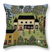 Country Gallery Throw Pillow