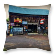 Country Garage Throw Pillow