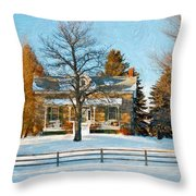 Country Home Impasto Throw Pillow