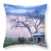 Country Horses Riders On The Storm Throw Pillow