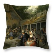 Country Inn Throw Pillow