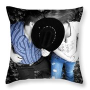 Country Kissin Throw Pillow